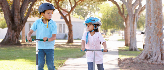 Walk, Ride, and Roll to School scooter image